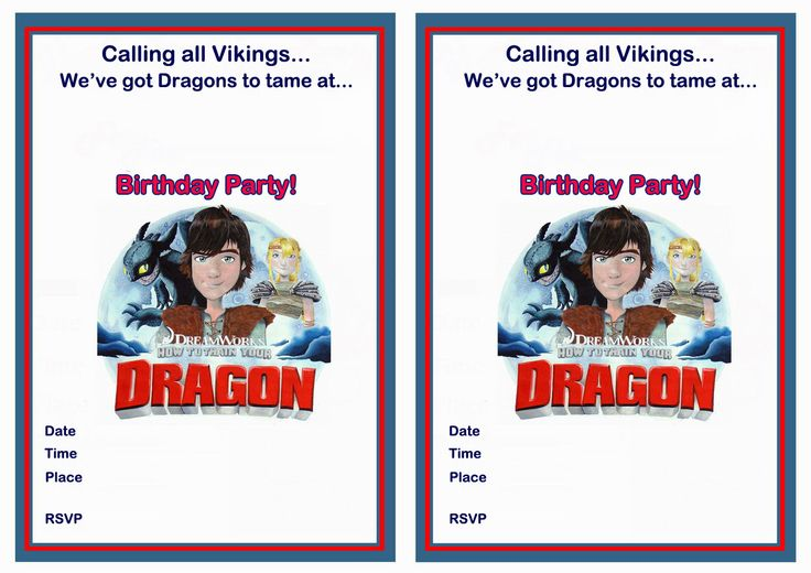 How To Train Your Dragon Birthday Invitations are Inspiring Layout To Make Elegant Invitation Card