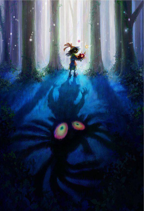 Zelda Majora S Mask 3d Skull Kid Poster 13x19 Legend Of Zelda