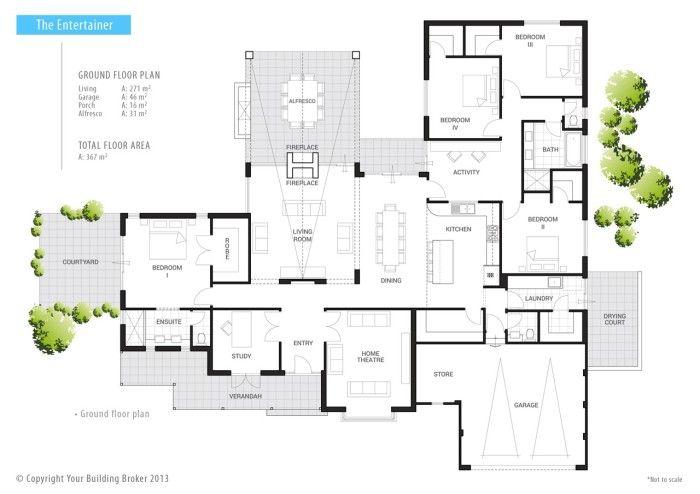 Floor Plan Friday: Indoor/outdoor fireplace