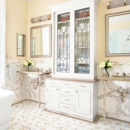 glass cabinet doors see more this bathroom is in an 1880s san francisco queen anne house featured on bhgcom