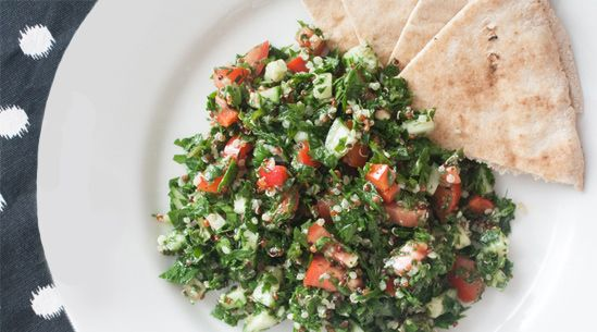 Traditional tabbouleh uses bulgur, but at San Francisco's Parallel 37, the dish swaps its buckwheat base for our favorite protein-packed grain: quinoa.