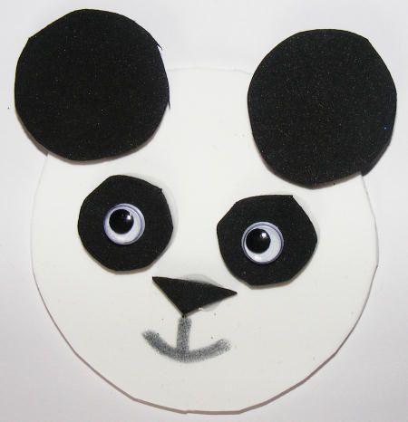 panda magnet kids craft, craft foam panda