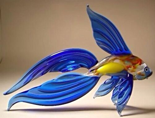 183 best images about art glass on pinterest for Blown glass fish