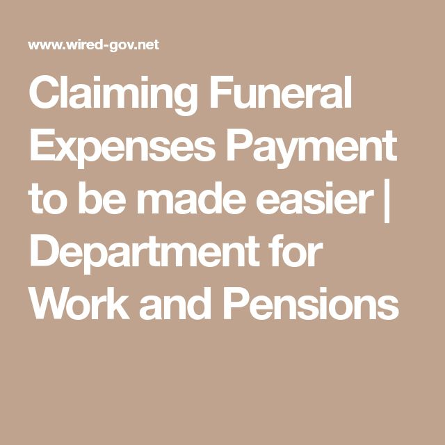 Claiming Funeral Expenses Payment to be made easier   Department for Work and Pensions