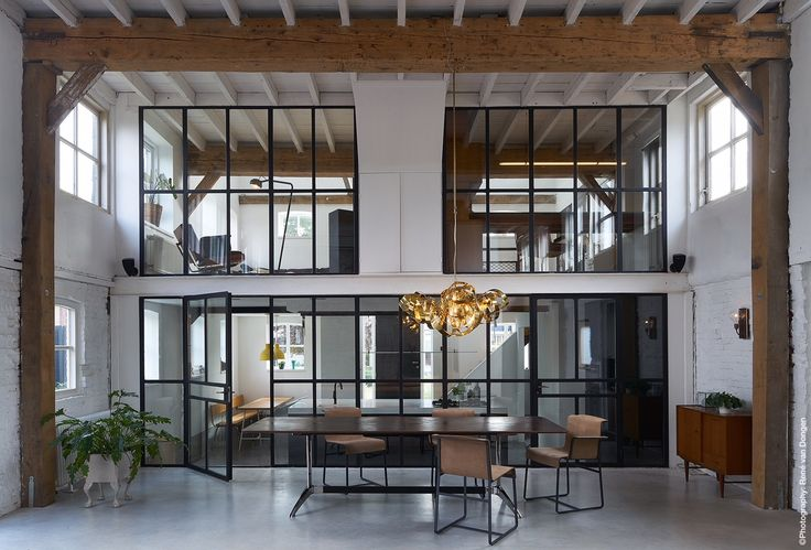 VanGijs Design Table - Office Interior - Handmade furniture / Leather table. SHOP ONLINE!