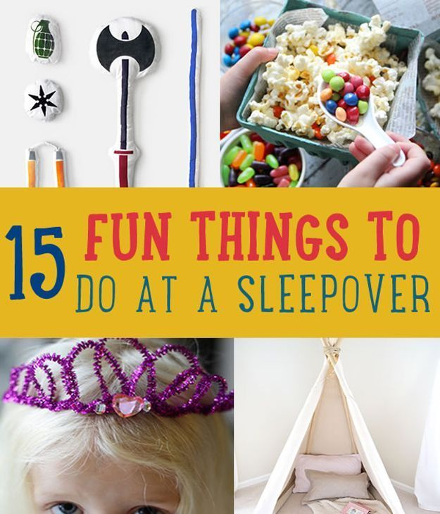 Activities For A Sleepover