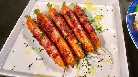 Baconinlindade morötter.