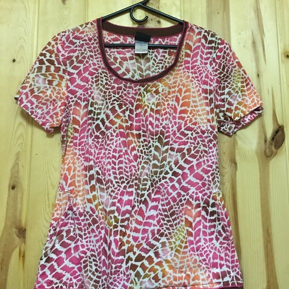 Baby Phat Scrub Top has 2 Side Pockets and Elastic Waist In back Excellent Used Condition
