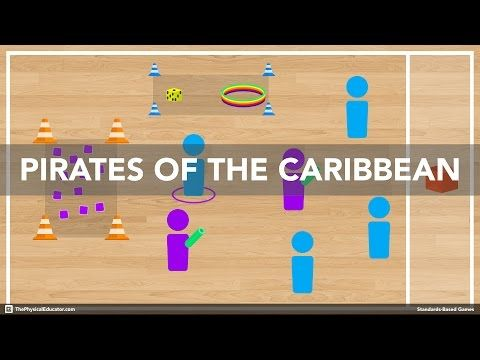 Pirates of the Caribbean - Standards-Based Physical Education Games