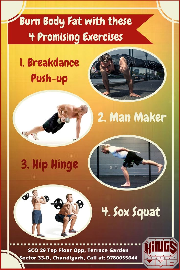 Reaching qualified and skilled fitness coaches in Chandigarh will make you aware of various effective fat burning exercises. Some of the best exercises that you can do include Sox Squat, Man Maker, Hip Hinge and Breakdance Push-up. Do not miss to check out this blog to explore how these exercises can help reduce the body fat efficiently. Visit: http://mmagymchd.com/blog/burn-body-fat-4-promising-exercises/