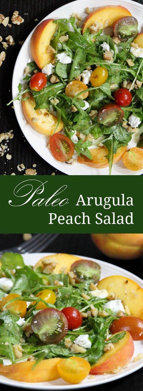 paleo arugula peach salad paleo ideas paleo food salad dressing ...