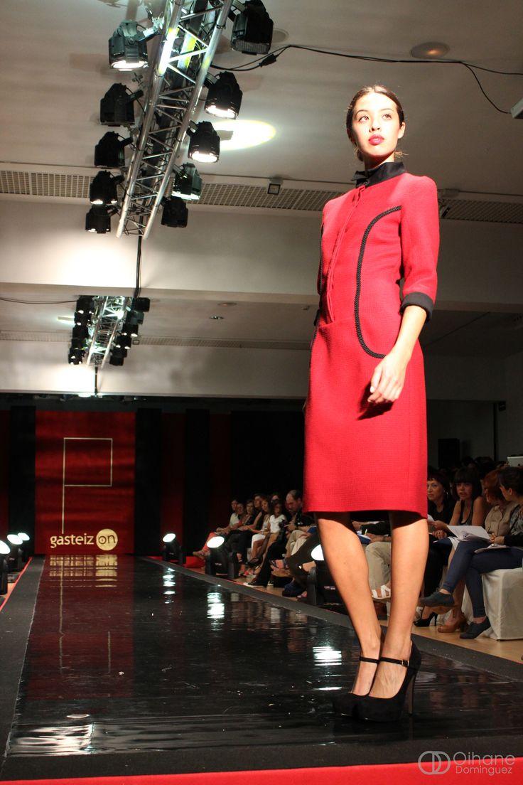 LeSmoking Collection. Burgundy dress