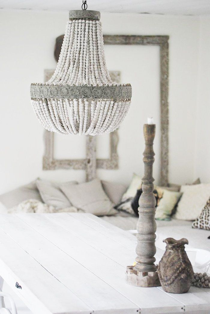 Hot or Not? Beaded + Shell Chandeliers