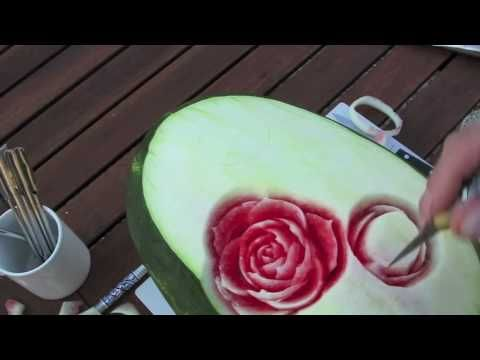 Watermelon carving Holy Smokes!! I'm so trying this this summer!!!