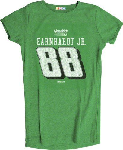 Dale Earnhardt Jr. #88 Women's Heathered Player T-Shirt by Checkered Flag. $21.99. Make a bold statement and proclaim your love for your favorite racecar driver with this Dale Earnhardt Jr. Women's #88 Heathered Player T-Shirt! Stylish NASCAR t-shirt for women features a slim cut and screen print graphics, making it a must-have piece of NASCAR apparel for racing fans.