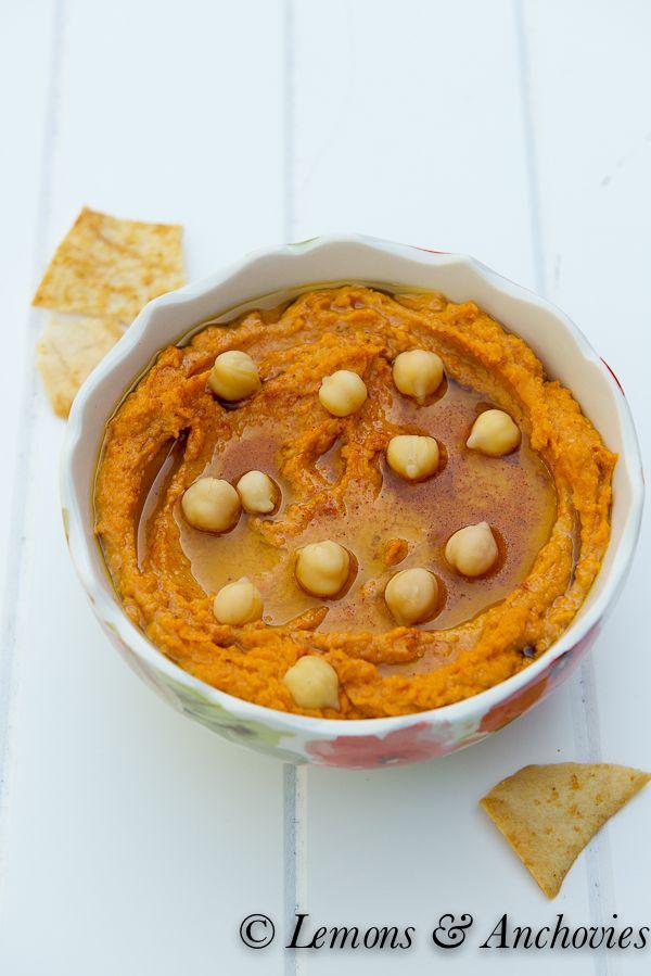 Sun-Dried Tomato Hummus @Jean Loang Pope | Lemons & Anchovies