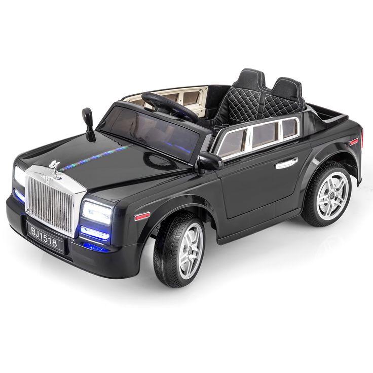 SPORTRAX ROLLS ROYCE STYLE PHANTOM 1 SEATER KIDS 12V RIDE-ON CAR | BLACK
