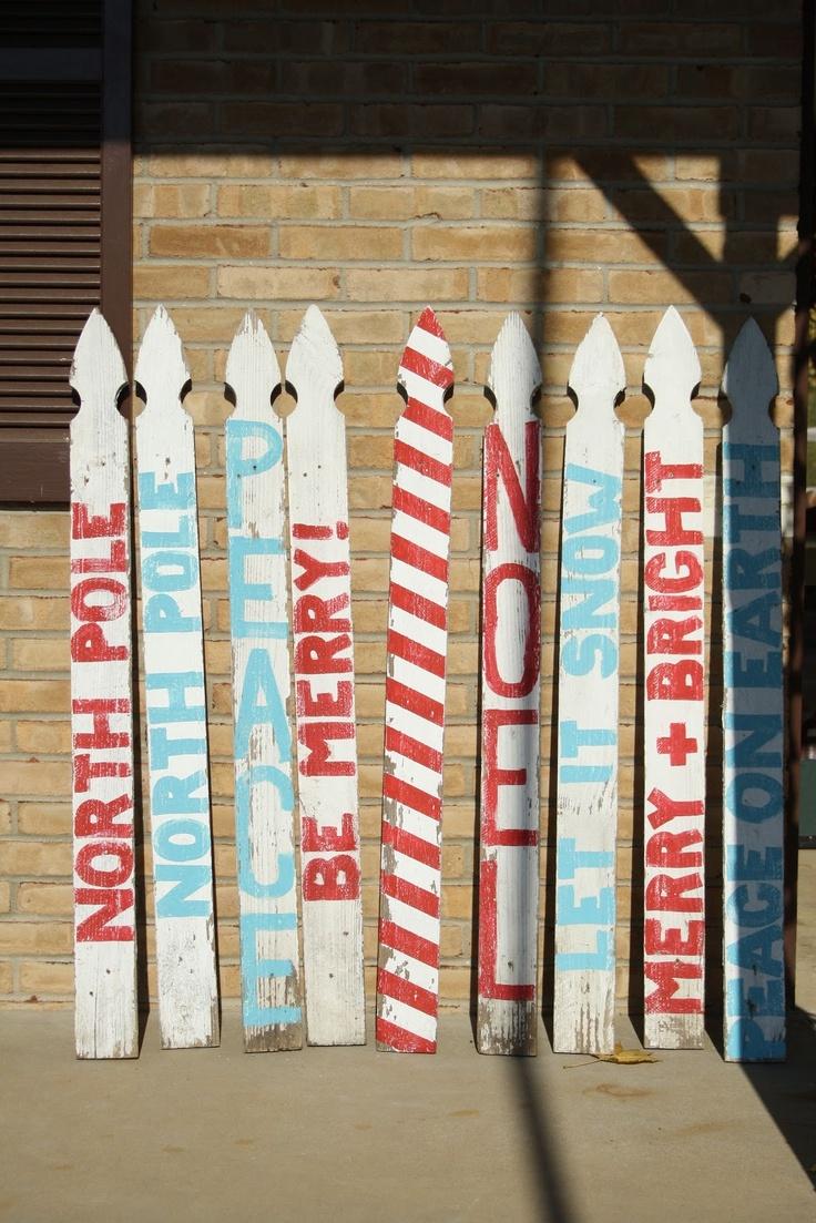 Diy decorative fencing - Primitive Proper Fence Picket Signs