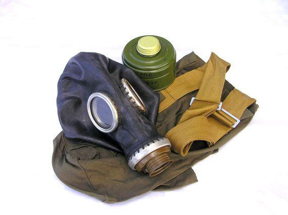 Gas mask steampunk military black soviet by SoYesterdaySoCool