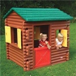 Playhouses – Little Tikes Log Cabin This popular pioneer-style homestead really does bring the woods to your back garden