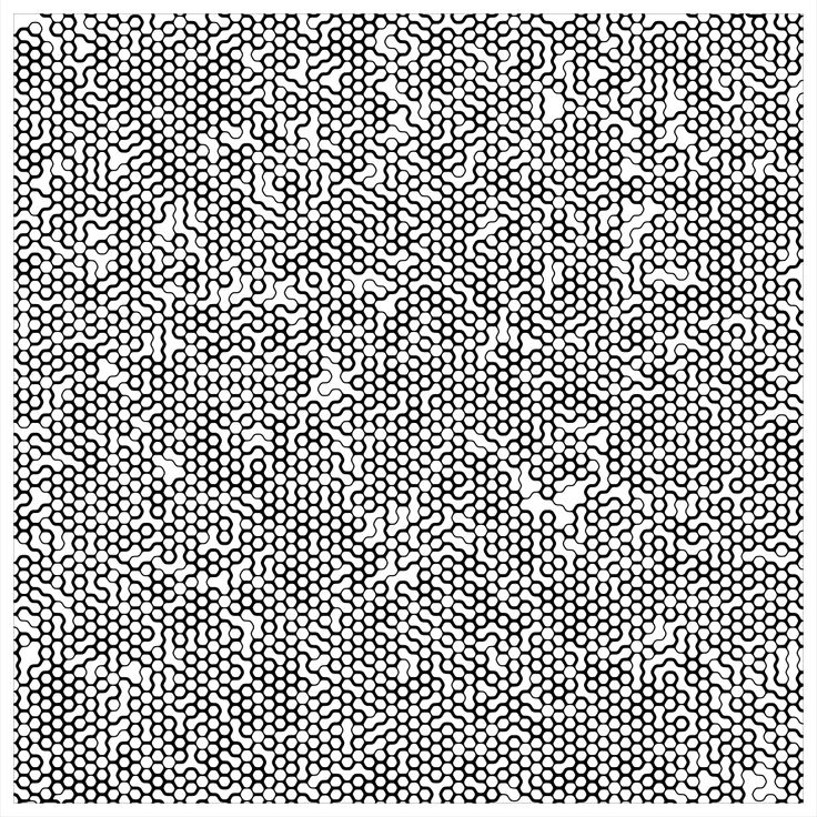 "'Signal & Noise 03-02-2017 # 1' © 2017 Titus Hora 150 x 150cm (54"" x 54"") digital print #abstract #procedural #parametric #generative"