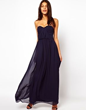 ASOS+Bandeau+Ruched+Maxi+Dress - Lots of bridesmaid dresses that look like this. Pretty sure the price is comparable... if not cheaper. Although, since I'm not having bridesmaids in the traditional sense, I can't see any of them wanting to wear this. But I'll take it. SR <3