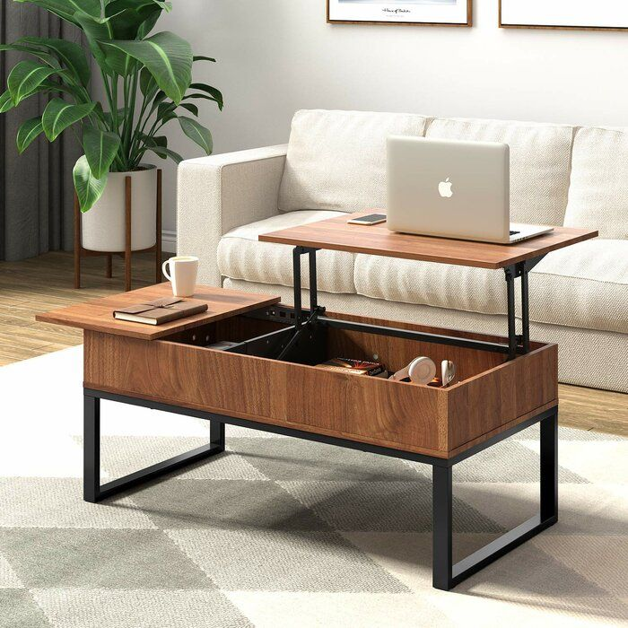 Valero Lift Top Extendable Sled Coffee Table With Storage Coffee Table With Hidden Storage Coffee Table Coffee Table For Small Living Room