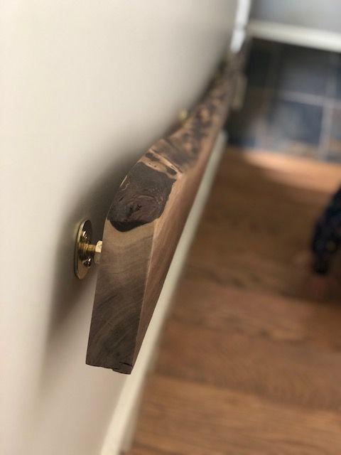 Best Live Edge Walnut Stair Case Hand Rail Diy Stair Railing Diy Stairs Stair Railing Design 640 x 480