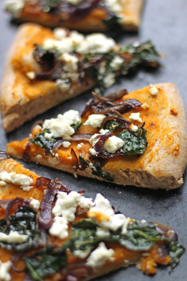 butternut squash pizza with kale and goat cheese squash pizza homemade ...