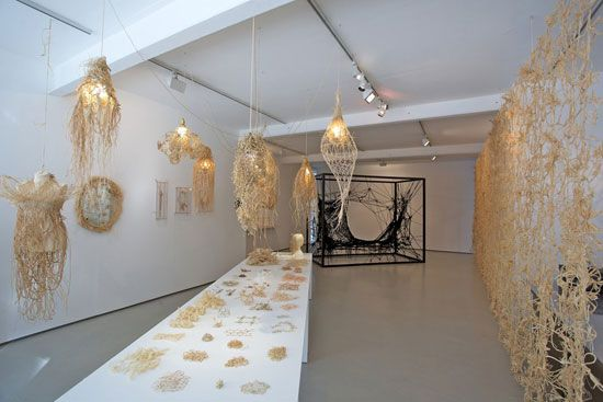 Dutch artist, Tord Boontje has taken lace and turned it on it's head. In his new exhibition, The Lacemaker, he has taken traditional techniques and paired them with non-traditional materials, culminating in an amazing array of objects, large and small.