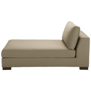 Chaise longue in Taupe cotton - Terence