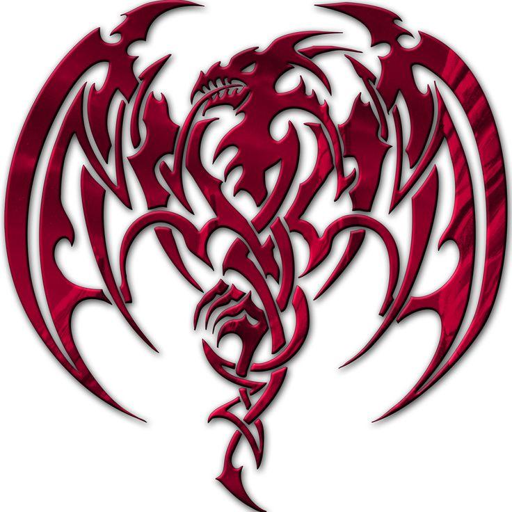 Red Dragon | medieval-hollow-tribal-dragon-head-dragon-tattoo-designs …