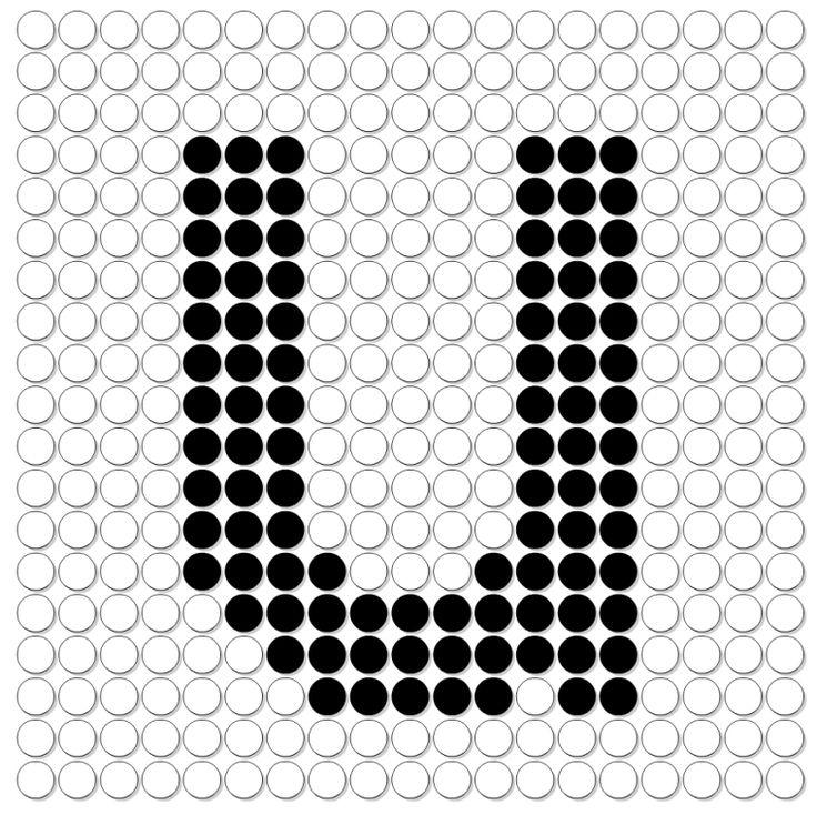 kralenplank letter U
