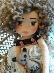 Risultati immagini per fare capelli di lana alle bambole
