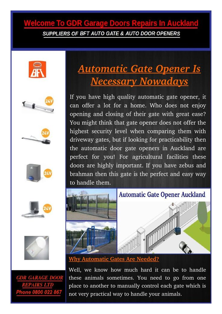 You need to consider many factors in order to purchase a suitable one, factors such as Gate Openers Auckland system and gate opener material type or brand. You should take everything into consideration.