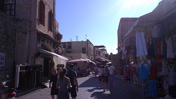 Rhodes Old Town shopping