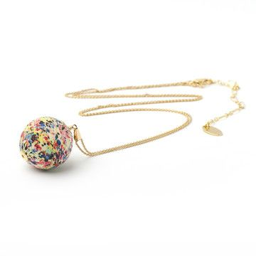 liberty print globe necklace from dorus mhor.