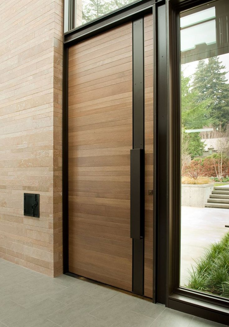 This wood and steel door is from a home in Seattle, Washington.