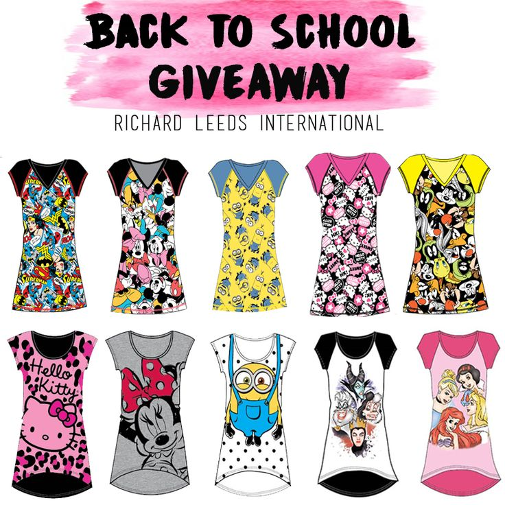 """Win free pajamas in our latest facebook contest! We're giving away TEN of our character night shirts to one lucky winner. For more details on how to enter, visit our facebook page and click on the """"back to school giveaway"""" tab!"""