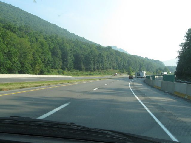 Coming and Going: Rt. 15 north to the Corning Glass Museum on August 22, 2013