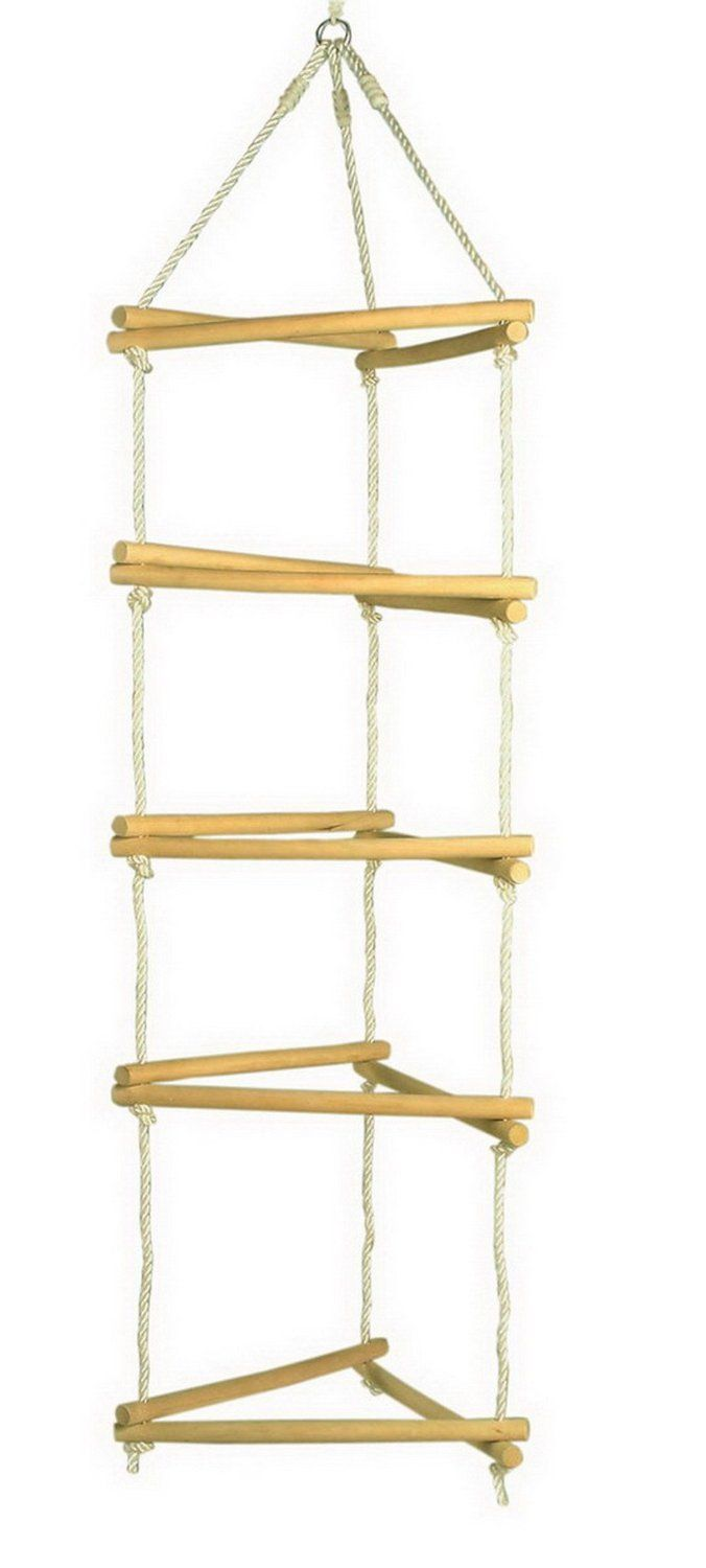 how to make a rope ladder with wood and rope