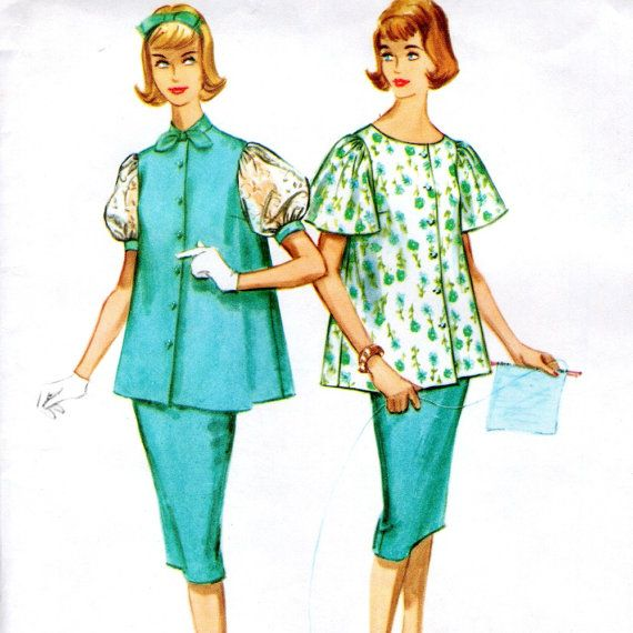 1959 McCall's 5222 sewing pattern //  maternity two piece dress via Winkorama
