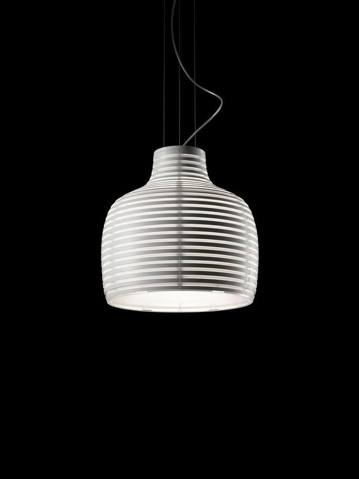 Behive. Foscarini. Lámpara de techo de luz difusa y directa. Difusor en ABS coloreado en el compuesto de moldeo mate, moldeado por inyección y formado por 6 módulos ensamblados. http://www.lamparasoliva.com/lamparas/de-techo/behive-foscarini.html