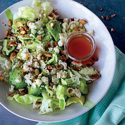 Taste Mag   Feta, toasted almond and avocado salad @ http://taste.co.za/recipes/feta-toasted-almond-and-avocado-salad/