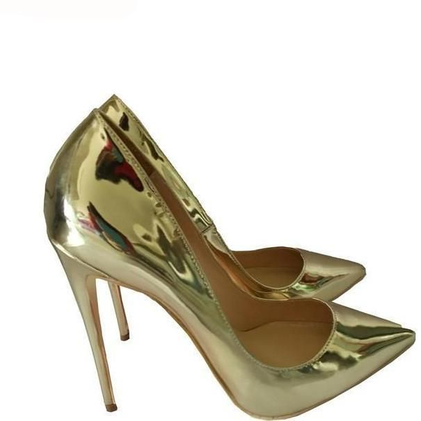 Now Available For The Season: GS Party - http://celebrityshoes4u.com/products/dorisfanny-spring-pointed-toe-high-heels-pumps-patent-leather-gold-silver-party-wedding-sexy-shoes-large-size-34-45?utm_campaign=social_autopilot&utm_source=pin&utm_medium=pin. There Is Also A Special Offer Available In Store For You!