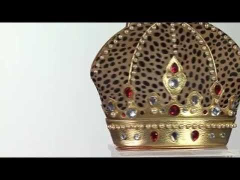 Borsa Temi Corona di Braccialini. Elegante fashion bag a forma di corona da regina, lavorata a mno con materiali innovativi. Pelle rigida.