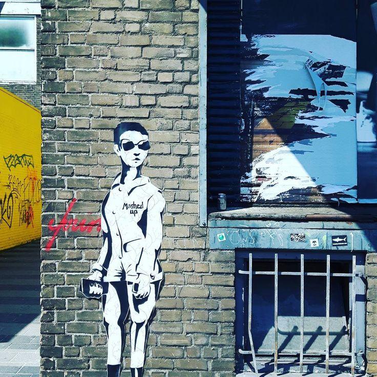 Fashion meets streetart in Rotterdam #mashed up #streerart  #rudek