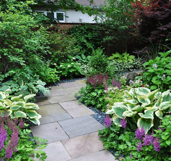Shade Garden Landscaping Stone Paths