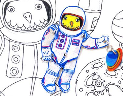 """Check out new work on my @Behance portfolio: """"Brooch Astronaut chick"""" http://be.net/gallery/33047131/Brooch-Astronaut-chick"""