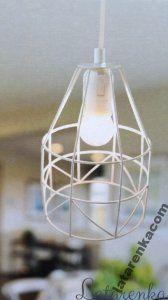 Lampa metalowa skandynawska, druciana loft